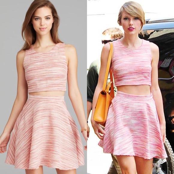 557d892b24e0 Aqua Tops - ASO Taylor Swift pink marled crop top Aqua